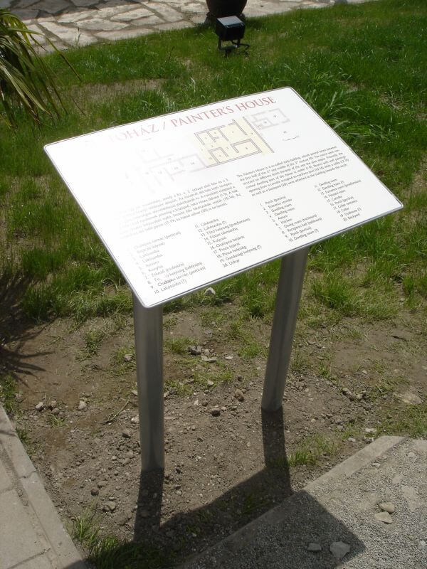 Egyedi információs tábla - Aquincum múzeum