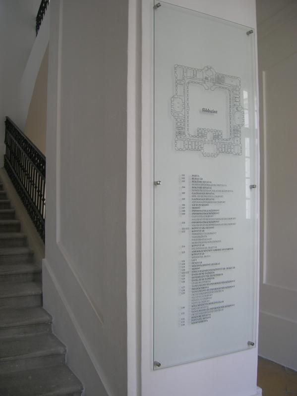 Információs tábla - Gravoplex