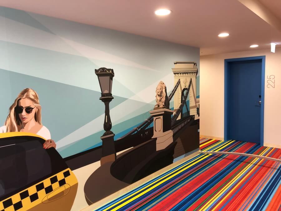 Dekoratív falfólia - ibis Styles Budapest Citywest Hotel