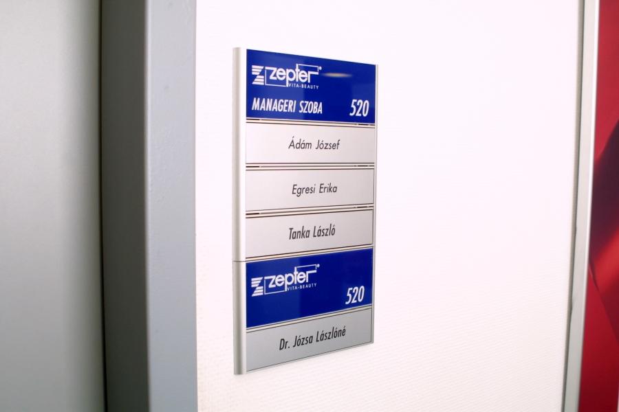 Spandex tábla gravírozott betétlapokkal - Zepter