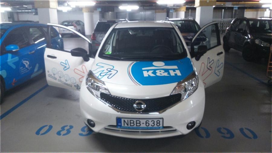 Autóflotta fóliázás - K&H Bank