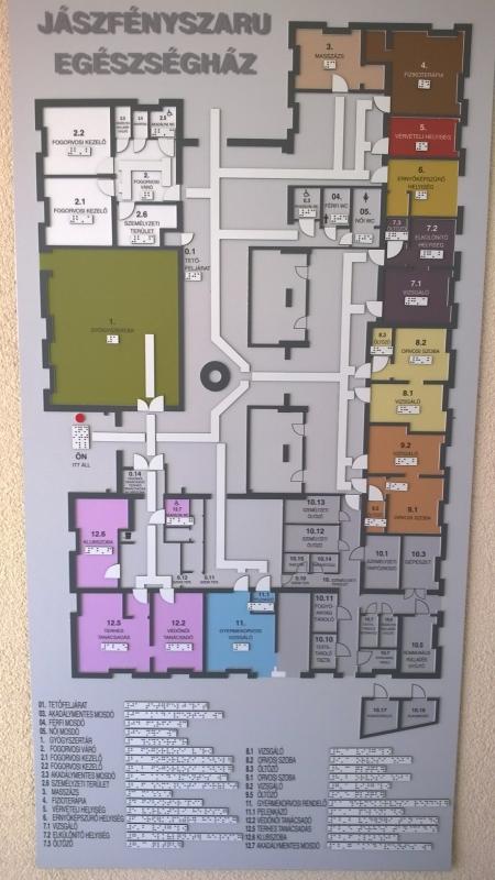 Taktilis térkép - Egészségügyi intézménybe