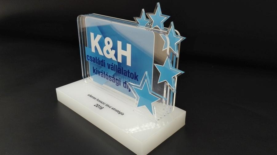 Gravírozott díj - K&H Bank