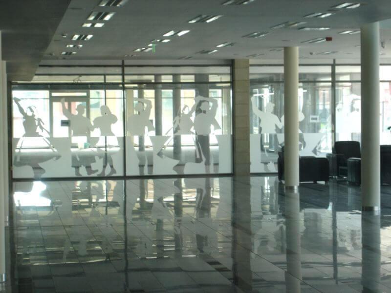 Üvegfelület fóliázása