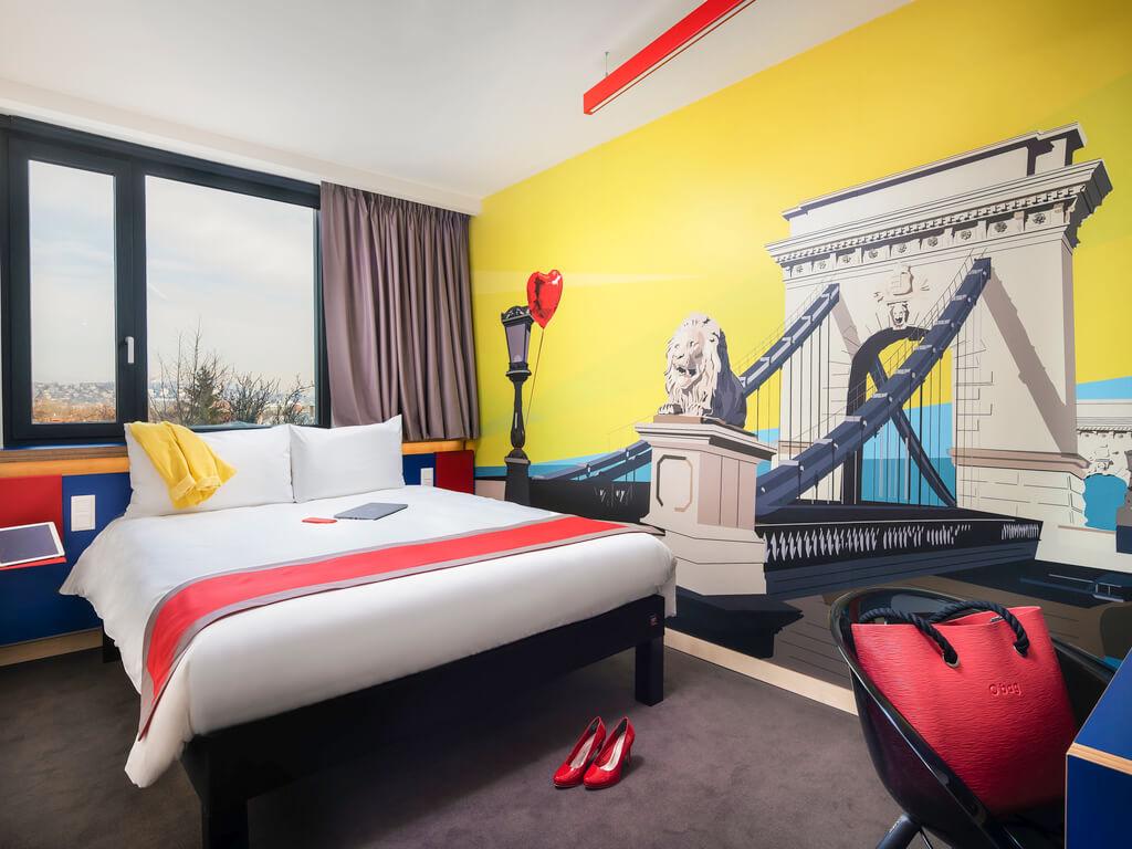 Falfólia duplaágyas szobába - ibis Styles Budapest Citywest Hotel