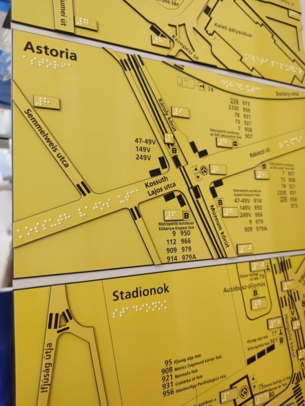 Taktilis térkép - BKV