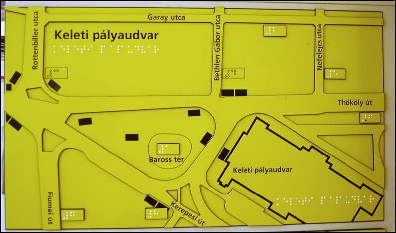 Taktiléis térkép - BKV