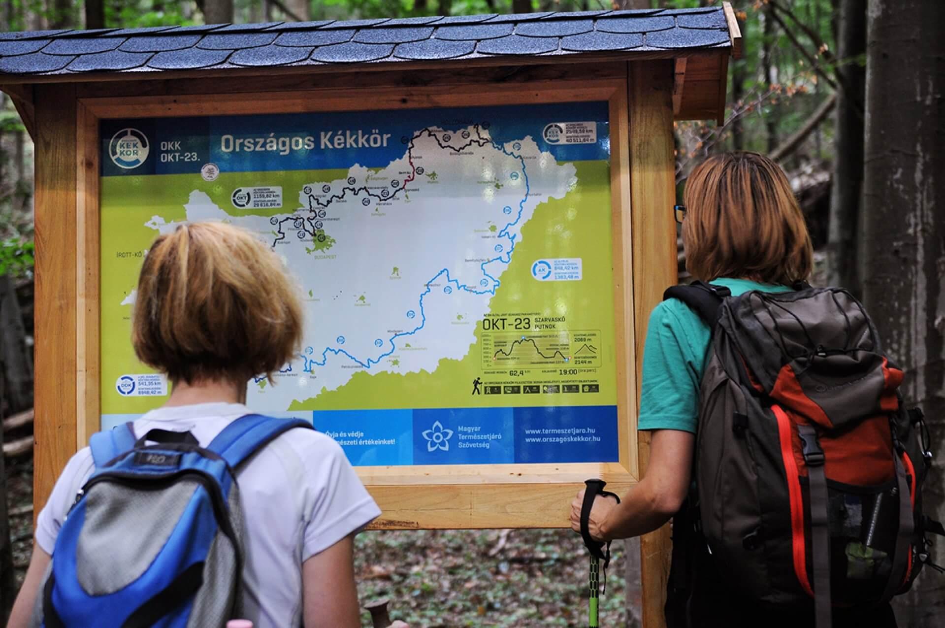 Információs térkép tábla - Országos Kéktúra