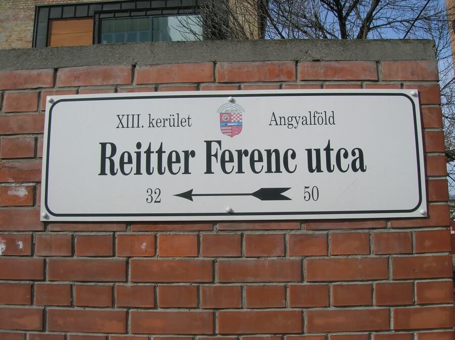 Reitter Ferenc utcatábla