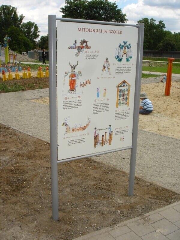 Aquincum múzeum játszótere - információs tábla