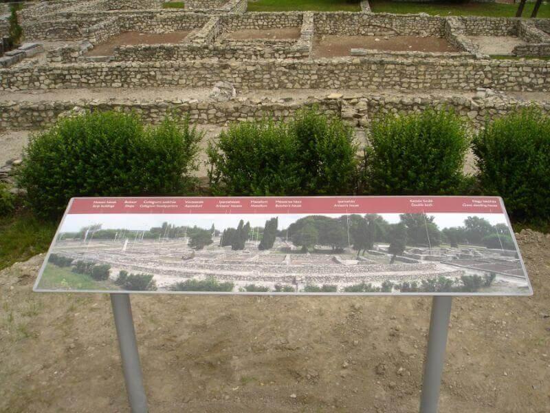 Aquincum múzeum - információs tábla