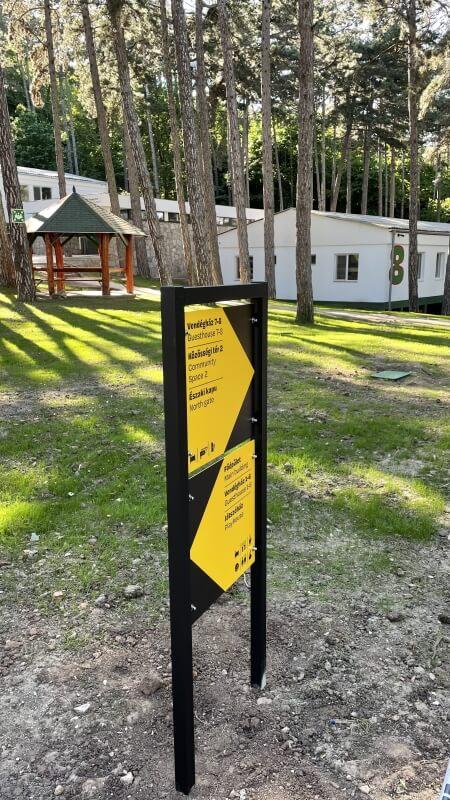 Információs tábla - Rákóczi tábor