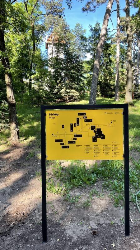 Információs térkép - Rákóczi Tábor