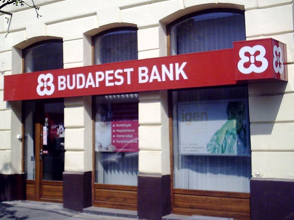 Világító tábla - Budapest Bank