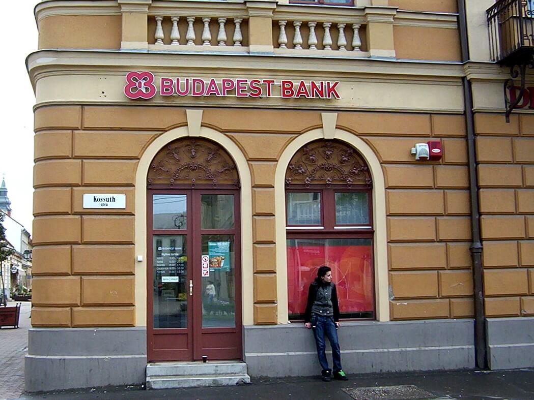 Világító cégfelirat és logó - Budapest Bank