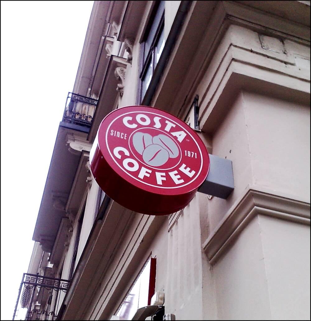 Világító cégér - Costa Café