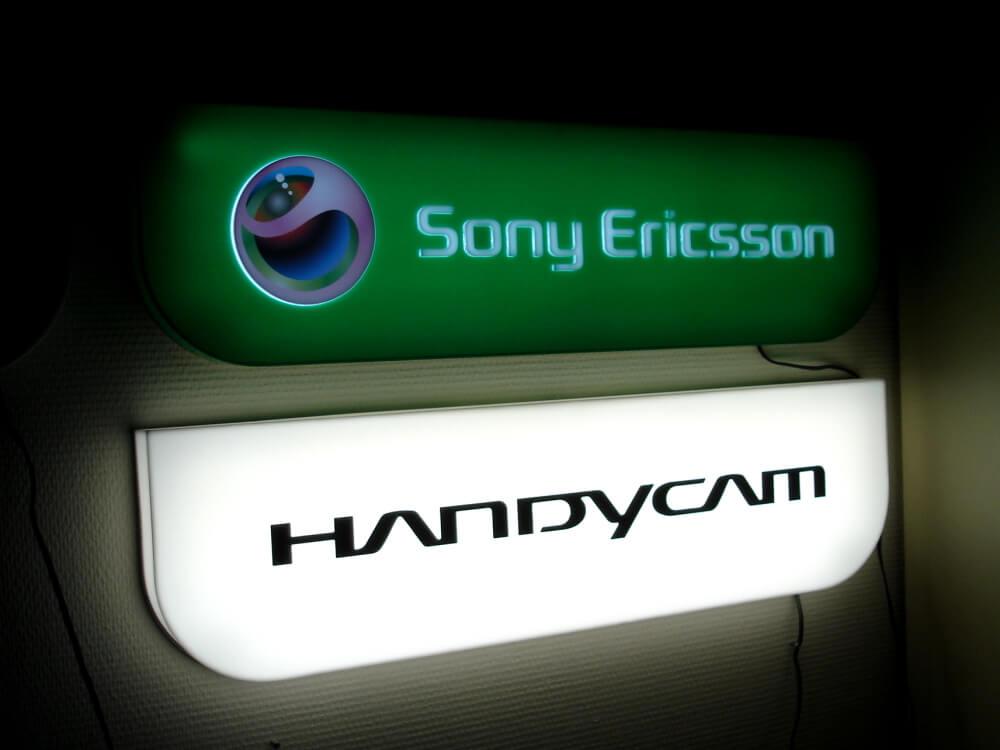 Világító tábla - Sony Ericsson